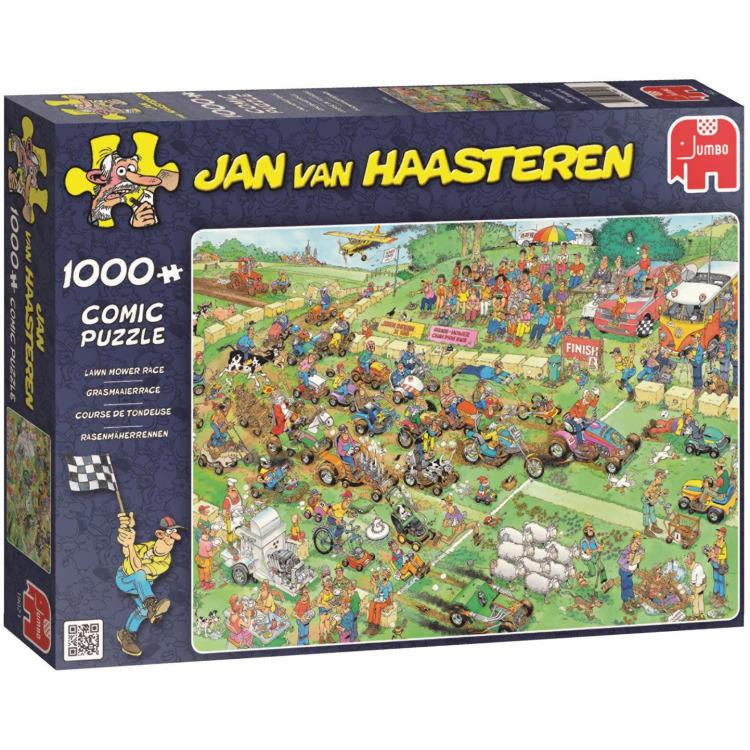 Jumbo Jan van Haasteren puzzel Grasmaaierrace 1000 stukjes