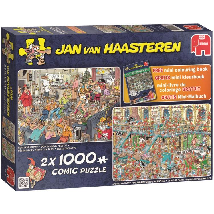 Jan van Haasteren 2in1 Puzzel Feestdagen 1000 stukjes