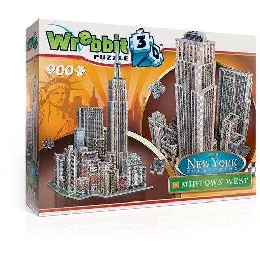 Puzzel New York Midtown West 3d: 900 stukjes
