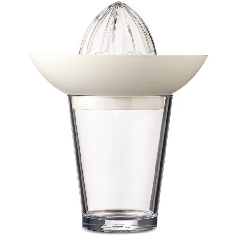 Image of Citruspers Met Glas Flow 200 Ml - Wit