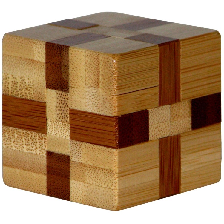 Image of 3D Bamboo Breinpuzzel Cube ***