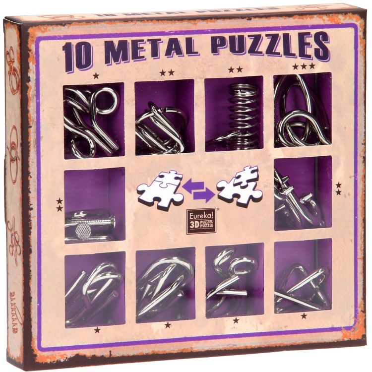 Image of 10 Metal Puzzles Set Paars