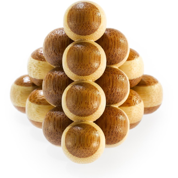 Image of 3D Bamboo Breinpuzzel Cannon Balls *