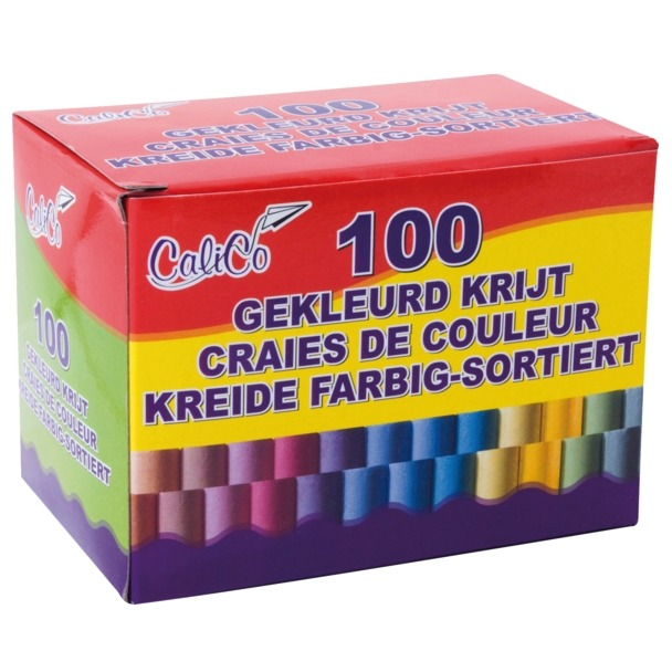 Image of Schoolbordkrijt Kleur, 100 Stuks