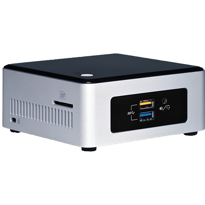Image of Intel Barebone NUC5PPYH Pentium N3700 (zilver-zwart)