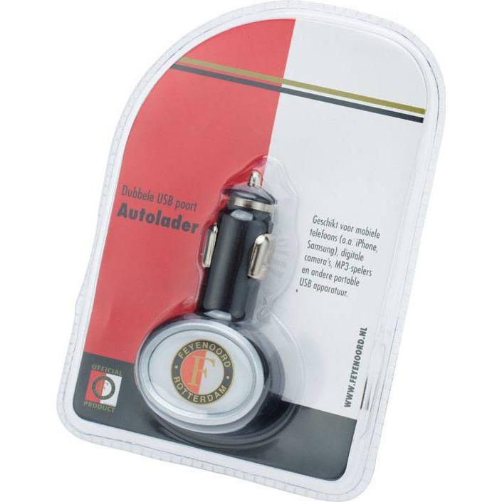 Feyenoord Autolader - USB - Zwart
