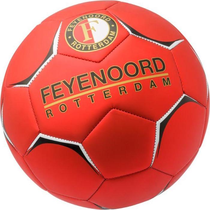 Image of Bal Feyenoord Leer Groot Rood Metal