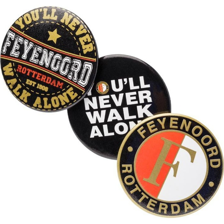 Image of Buttons Feyenoord 3-pack