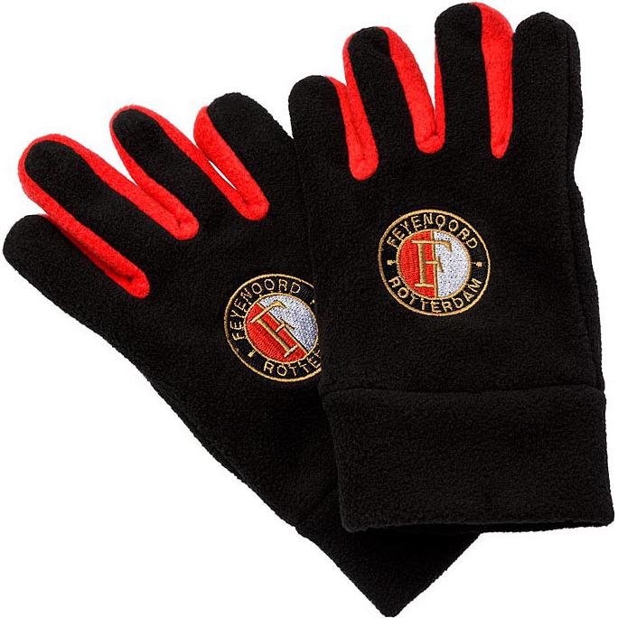Image of Fleecehandschoenen 15-16 Zwart-rood
