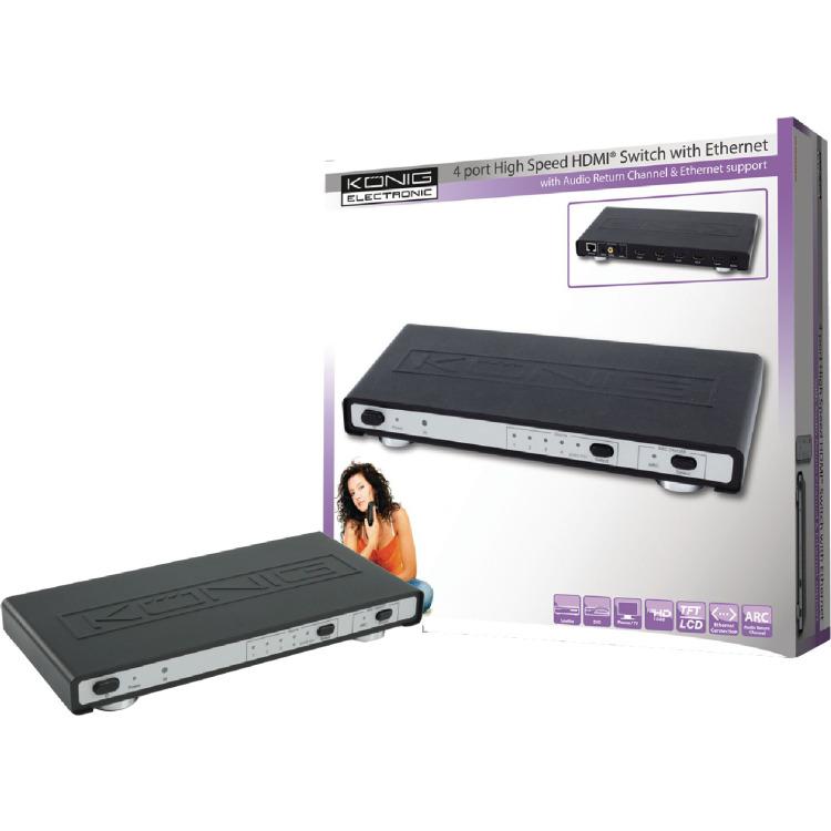 Konig 4 Poorts HDMI Switch (3D en ARC)