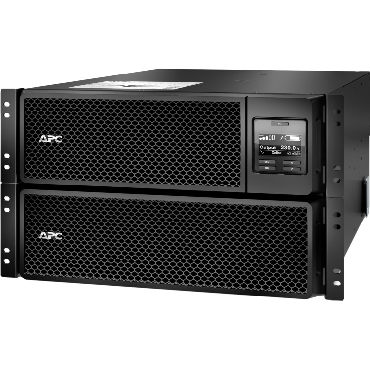 APC Smart-UPS SRT - UPS ( rack-uitvoering ) - 230 Volt wisselstroom V - 10 kW - 10000 VA - Ethernet 10/100, USB - 14 Output Connector(s) - 6U