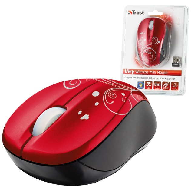 Wireless Mouse Vivy   Red
