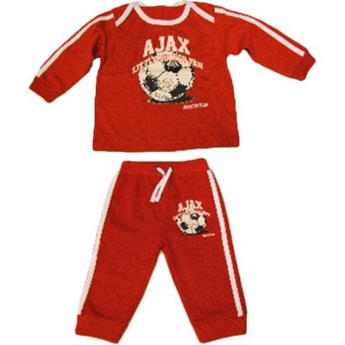 Ajax Pyjama - Baby - Maat 50-56 - Rood / Wit