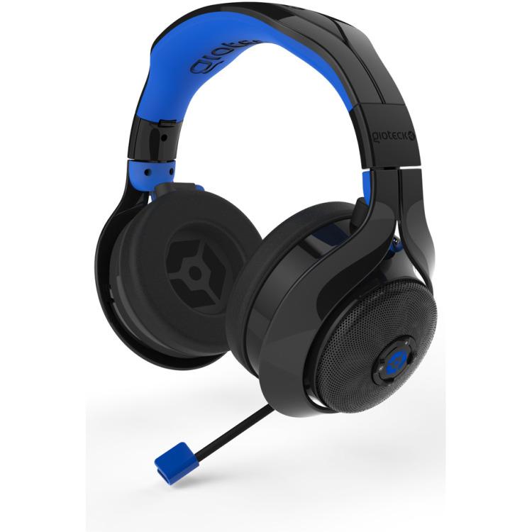 Gioteck FL-400 Wireless Rf Stereo Headset - Zwart / Blauw - PC / MAC / PS4 / Xbox One