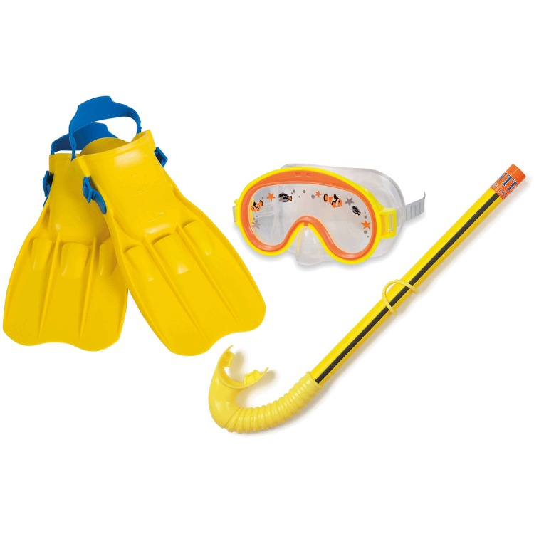Intex - Duikbril/Snorkel/Flipper Set - 3-8 jaar - Geel