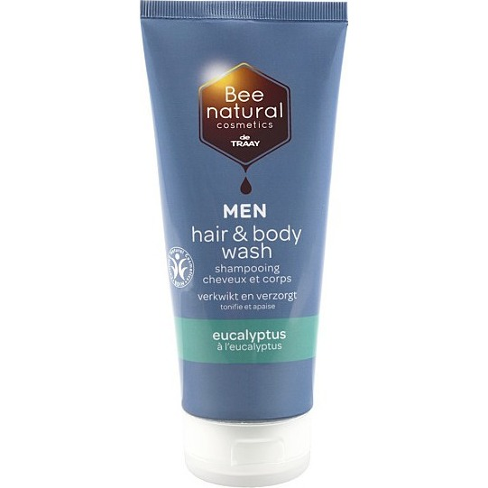Image of Bee Natural Men Hair & Body Wash Eucalyptus, 200 Ml