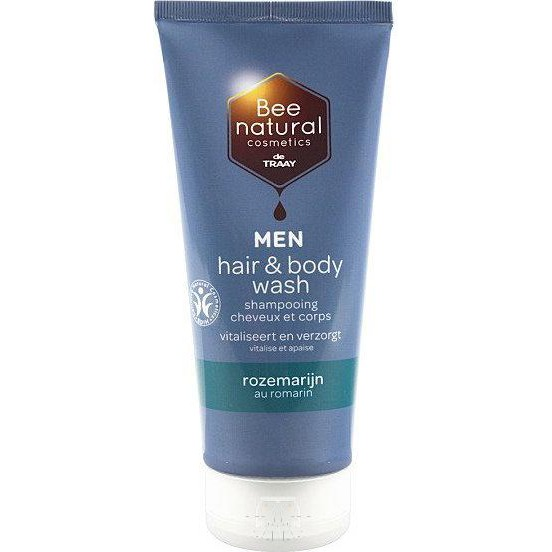 Image of Bee Natural Men Hair & Body Wash Rozemarijn, 200 Ml