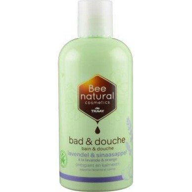 Image of Bee Natural Bad & Douche Lavendel/sinaasappel, 250 Ml