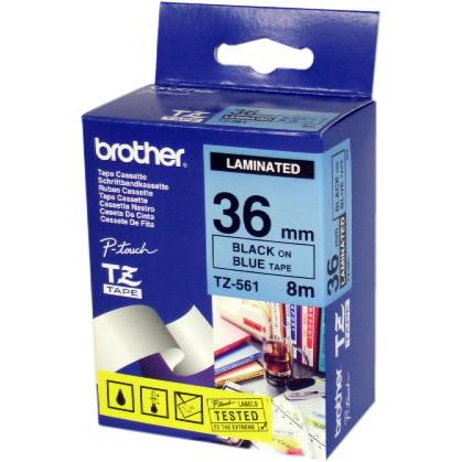 Brother Labels TZe561 Zwart op Blauw 36 mmx8 m