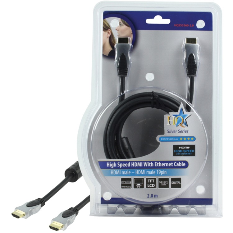 HQ High Speed HDMI Kabel met Ethernet - 2m