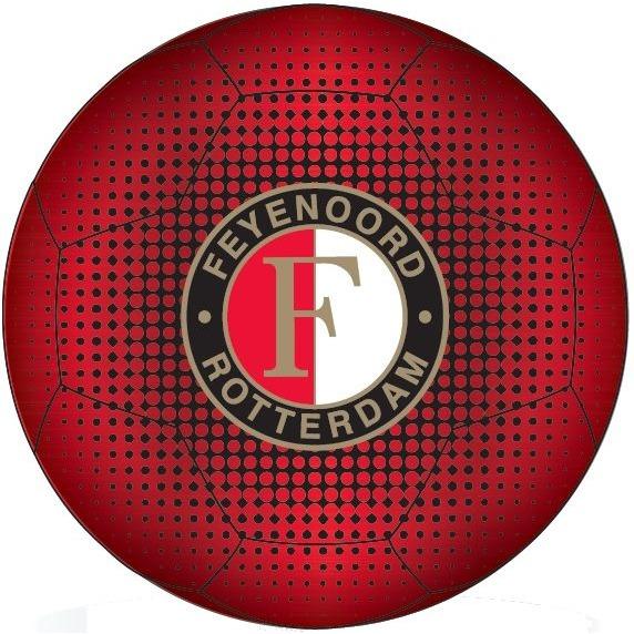 Image of Bal Feyenoord Leer Middel Rood Meta