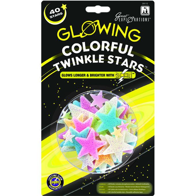 Colorful Twinkle stars - Kinderkamer Decoratie
