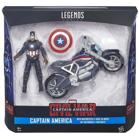 Action Figure Captain America 10 Cm: Captains Bike