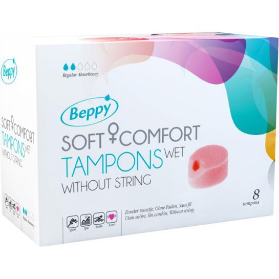 Image of Soft+Comfort Tampons WET, 8 Stuks