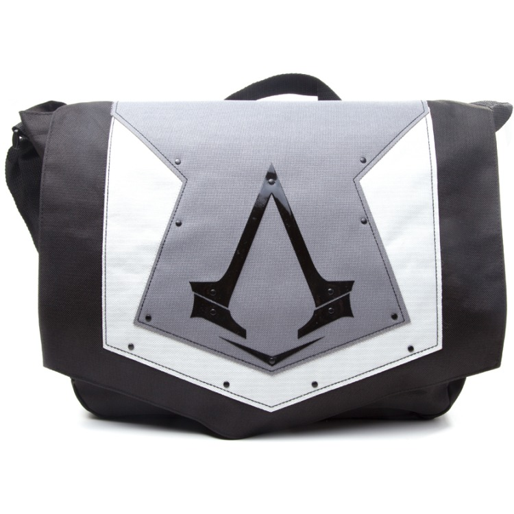 Image of Assassin's Creed Syndicate - Messenger Bag - Flap Logo (Grijs)