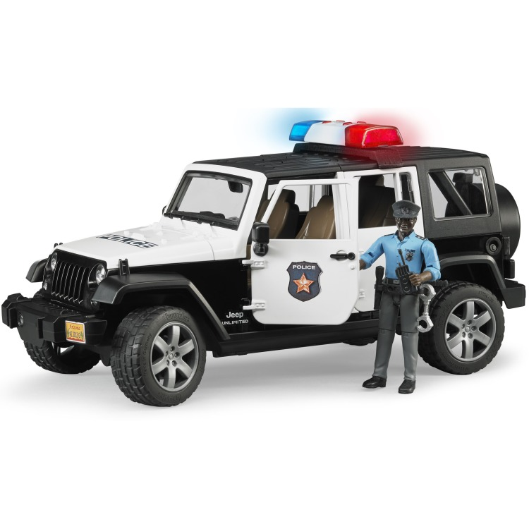 Image of Bruder - jeep wrangler unlimited rubicon politieauto met agent