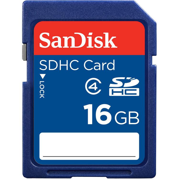 Memorykaart, Sandisk, Secure Digital, SDHC 16.0GB