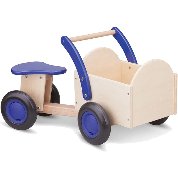 bakfiets blank-blauw
