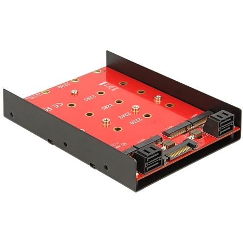 3.5 Converter 4x 7-Pin SATA > 4x M.2 NGFF