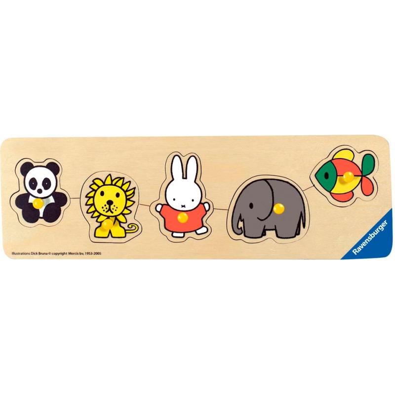Nijntje in de dierentuin houten puzzel, 5 stukjes