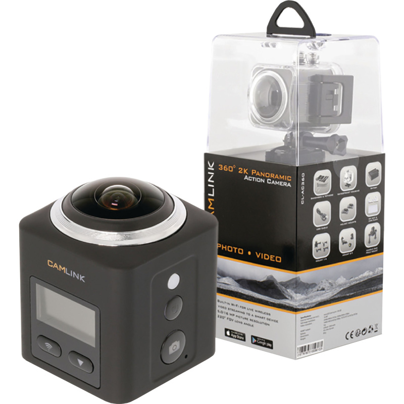 Full HD Action Camera 2K Wi-Fi-Microfoon