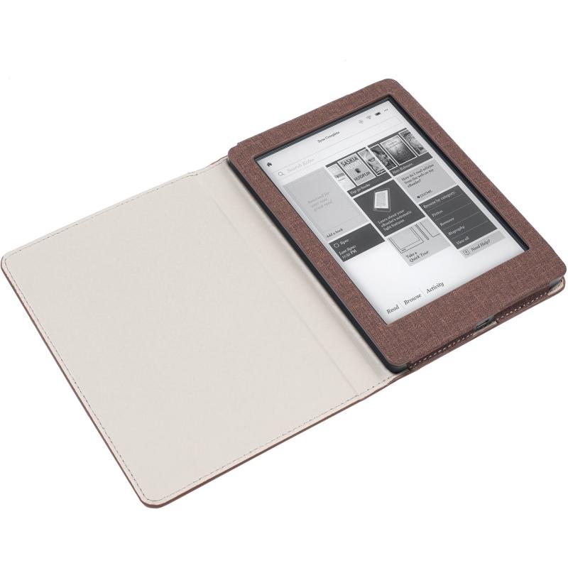 - Luxe Beschermhoes voor Kobo Aura Edition 2 (Bruin)