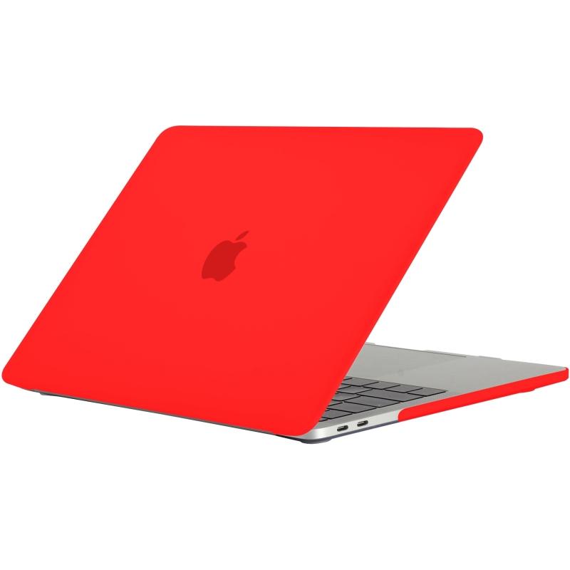 - 'Clip On' Beschermhoes voor MacBook Pro 13 inch (2016) Rood