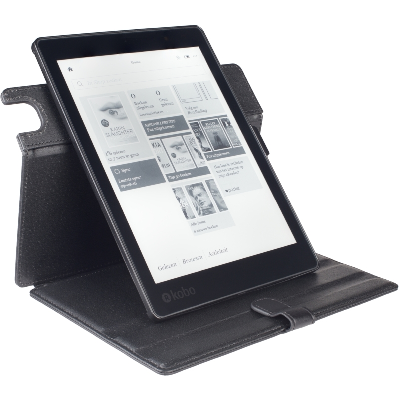 - Waterproof Easy-click Twist voor Kobo Aura One (Zwart)