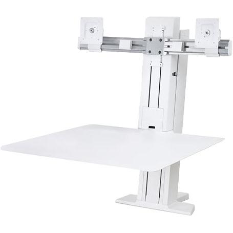 WorkFit-SR Dual Monitor, Sit-Stand Desktop Workstation