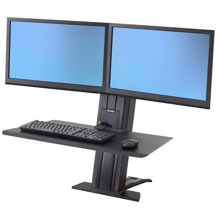 WorkFit-SR Dual Monitor, Short Surface, Desktop Workstation