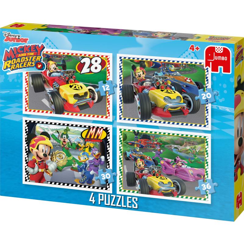 Disney Junior Mickey Roadster Racers 4in1 puzzels