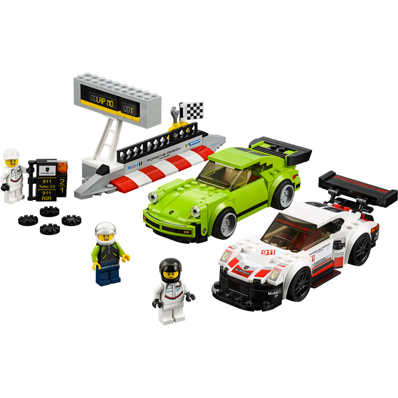 Speed Champions Porsche 911 RSR en 911 Turbo 3.0