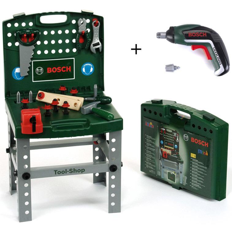 Bosch speelgoed werkbank met Ixolino II