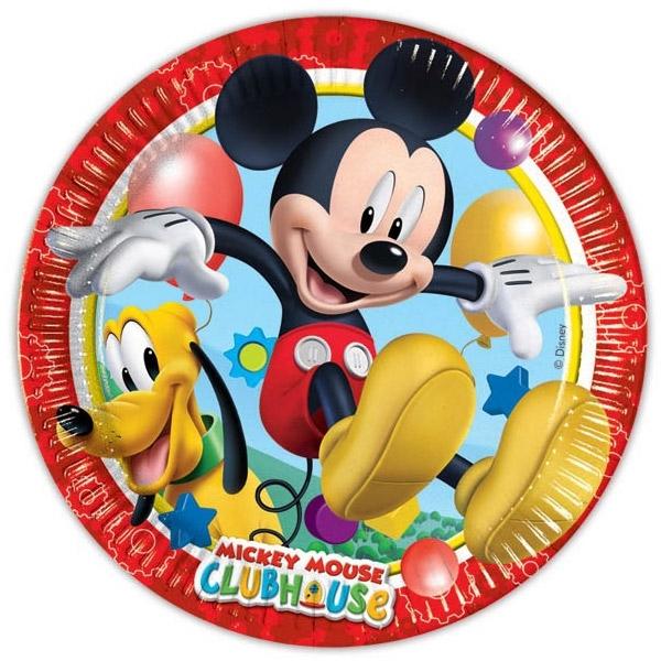 Mickey Mouse bordjes, 10 stuks