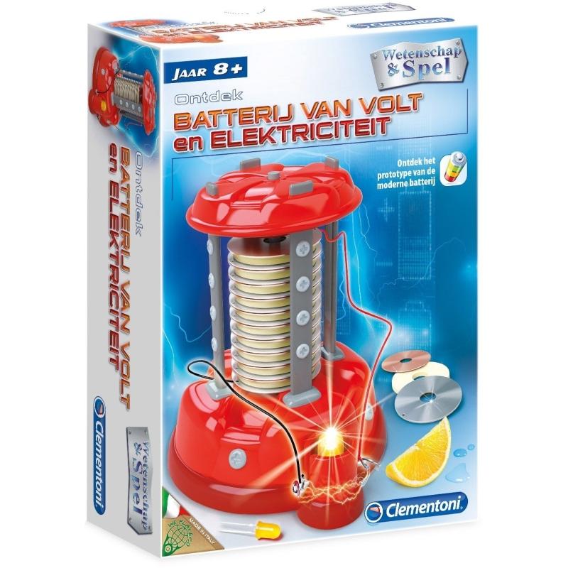 Wetenschap & Spel Ontdek de batterij van Volt en elektriciteit