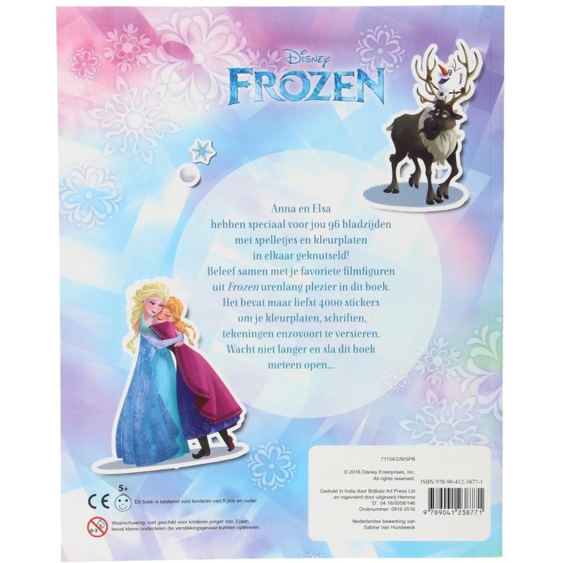 Disney Frozen spelletjes- en kleurboek met 4000 stickers
