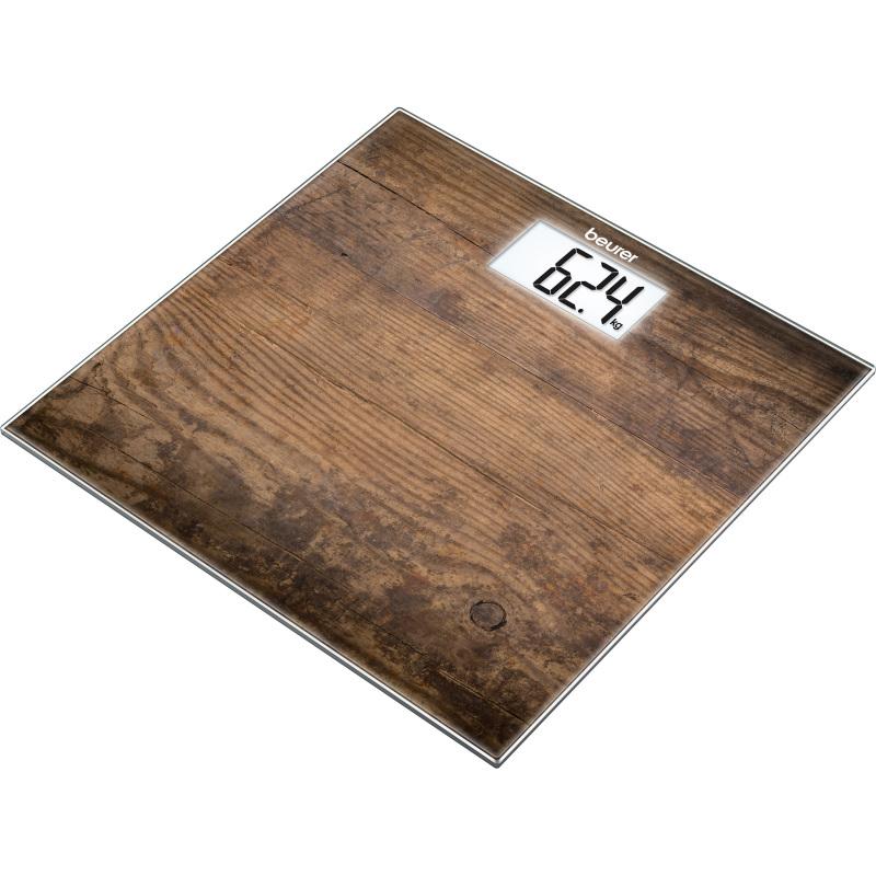 Weegschaal met glazen weegplateau GS 203 Wood