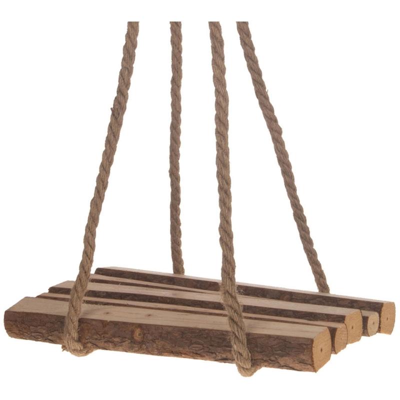 Hangende Decoratie Plank Hout, 29x18cm