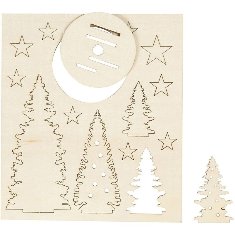 Maak en Versier je Houten Kerstbomen