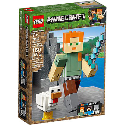 Minecraft BigFig Alex met kip